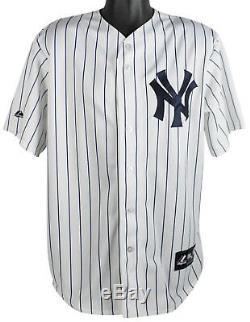 Yankees Yogi Berra Jersey Authentique Majestic Signé Autographié Psa / Adn