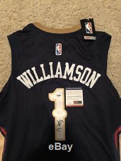 Zion Williamson Signé / Autographié Nba Jersey Nouvelle-orléans Pélicans Psa / Dna Coa